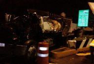Hasta el momento se reportan tres personas lesionadas, entre ellas la cajera de dicha zona de cobro y el conductor de la unidad qué ocasiona el accidente, el cual impactó de igual forma otros vehículos que pagaban la cuota de paso en la caseta