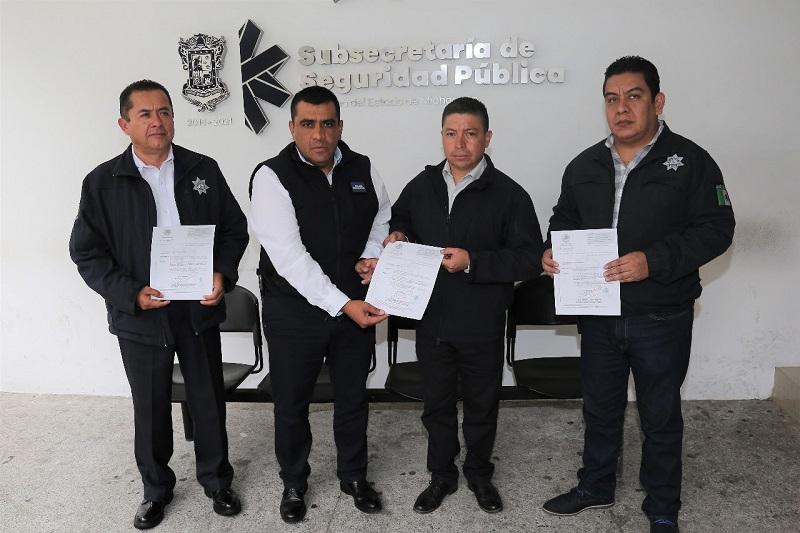 El subsecretario de la institución, Carlos Gómez Arrieta, entregó los nombramientos para continuar trabajando en la estrategia de seguridad que se realiza en beneficio de la ciudadanía