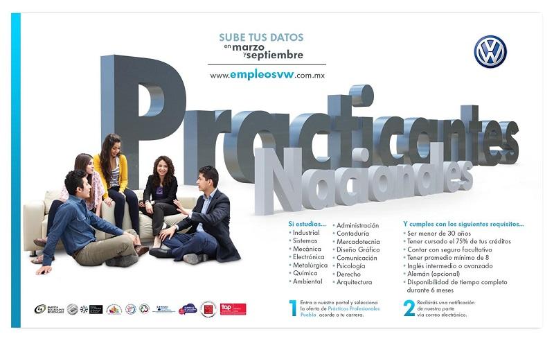 Los interesados podrán registrar sus datos durante los meses de marzo y septiembre, a través de la página: www.empleosvw.com.mx
