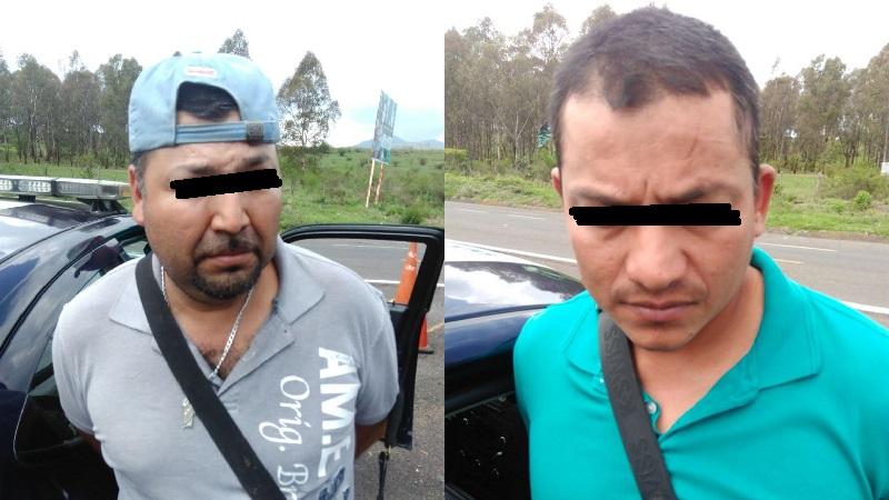 Los indiciados se identificaron como Aristeo M., de 43 años y Jacobo S., de 30 años de edad, los cuales dijeron pertenecer a una célula del crimen organizado, siendo trasladados ante el Ministerio Publico de la Federación para continuar con la carpeta de investigación