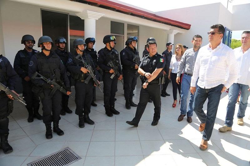 La base opera con elementos de la Policía Michoacán, pero en breve se incorporará la Secretaría de la Defensa Nacional para trabajar de manera coordinada