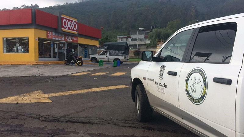 Elementos policíacos realizaron un operativo en la zona para tratar de dar con los homicidas pero sin resultados positivos