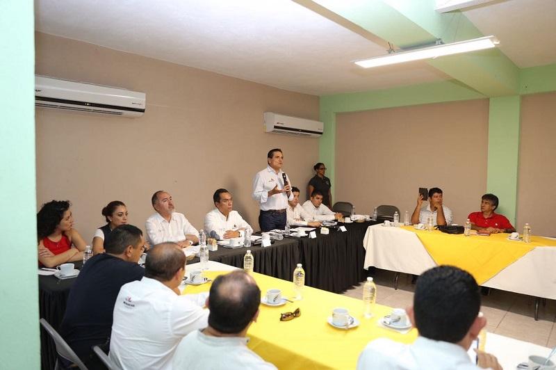 Sostiene el gobernador reunión con integrantes de la sociedad civil de Nueva Italia