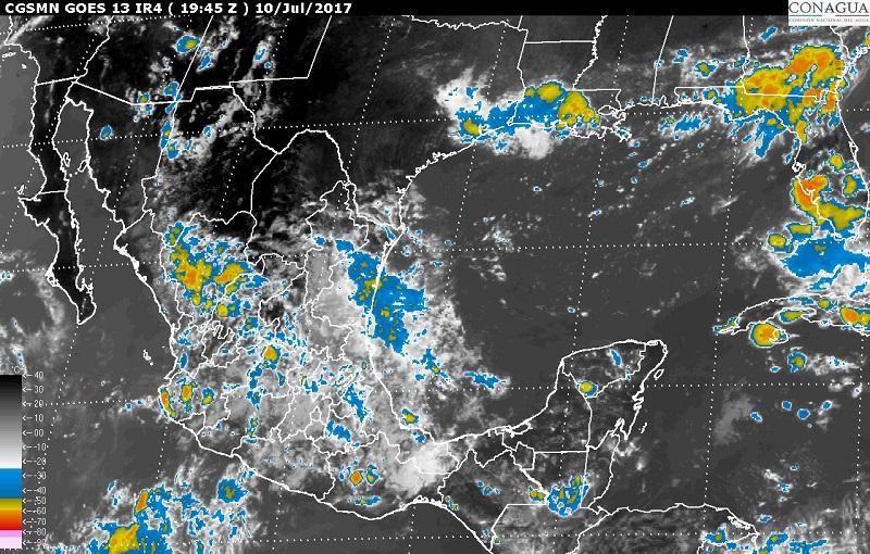 Con el paso de los sistemas de tormenta podría haber granizo, actividad eléctrica y vientos mayores a 60 kilómetros por hora