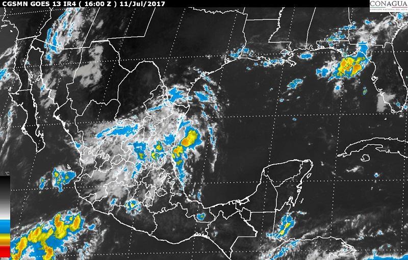 En las zonas de tormenta podría haber actividad eléctrica, fuertes rachas de viento y granizadas