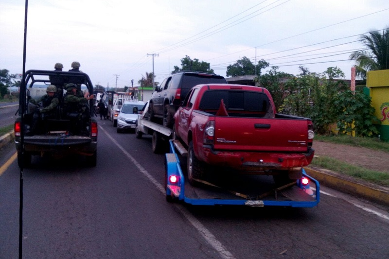 En la acción, realizada en el municipio de Apatzingán, participaron elementos de la PGJE, Ejército Mexicano y Policía Michoacán