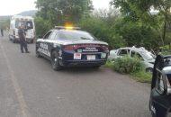 El hecho se suscitó minutos después de las 19:00 horas cuando un vehículo Chevrolet Corsa, de color gris, con placas de circulación HCX-9797 del estado de Guerrero, circulaba sobre la carretera Huetamo - Comburindio