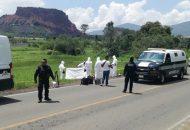 El hallazgo ocurrió cuando el conductor de un camión tipo Torton circulaba por dicha carretera con dirección a la comunidad de Joyitas, en un momento determinado se percató que a la orilla de la carretera se encontraba tirado un cuerpo