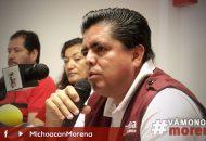 """""""Morena tiene 3 años de ser partido y es la primera fuerza política del país, dijo el dirigente estatal, Roberto Pantoja"""