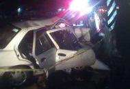 Autoridades Federales y Estatales resguardaron el lugar hasta que ordenó personal de la Fiscalía el rescate del cuerpo por parte de elementos de Protección Civil Tarímbaro con equipo hidráulico