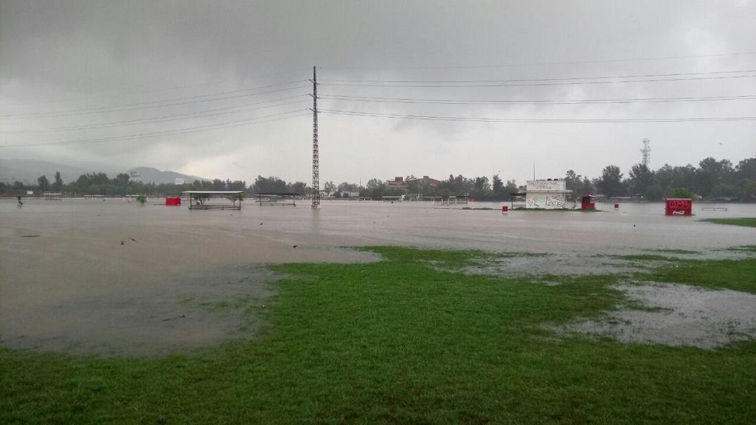 Suspenden los partidos de la liga municipal por inundaciones de las canchas
