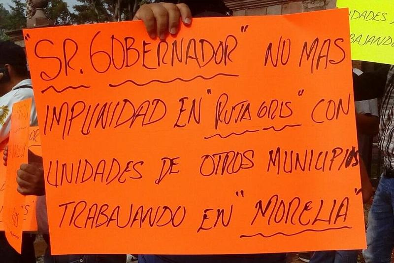 Cabe recordar que la Ruta Gris forma parte del Instituto Michoacano del Transporte (IMT), que es presidida por Fernando Orozco