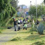 En esta ocasión se trabajó en la limpieza en las áreas verdes y la zona de la ciclo pista en la colonia Ignacio López Rayón, donde vecinos se unieron a la estrategia para limpiar el frente de sus casas, así como las áreas comunes