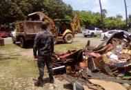 En la destrucción se contó con la presencia de la Mtra. Berta Paredes Garduño Delegada Estatal de la Procuraduría General de la Republica, así como personal del Órgano Interno de Control de la PGR