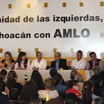 El evento fue encabezado en el presídium por el senador de la República, el ex gobernador de Michoacán Leonel Godoy, la secretaría de Formación Política del PRD estatal, Cristina Portillo, el fundador del PRD, Pablo Gómez, la representante de Morena a nivel nacional, Yeidckol Polevnsky