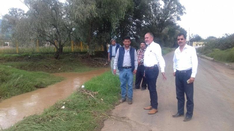 En la localidad, la SCOP efectúa la revisión técnica de las afectaciones en materia de infraestructura, incluyendo las vialidades dañadas