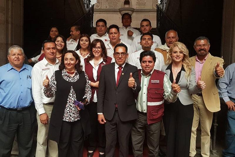 Al evento del Segundo Informe de actividades de Osvaldo Ruiz Ramírez, asistió la secretaria general del CEN de Morena, Yeidckol Polevnski