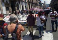 Aunque la convocatoria era para iniciar la marcha a las 10 de la mañana desde los cruceros de la salida a Pátzcuaro, a Salamanca, a Quiroga y a Charo para caminar a través del libramiento con el fin de afectar lo más que se pudiera a los ciudadanos, fue pasadas las 11:30 horas cuando comenzaron a caminar