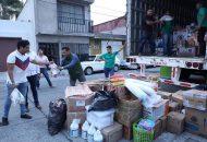 Torres Piña resaltó que el resultado del apoyo de los ciudadanos fue mayor a dos toneladas de víveres, medicamentos y productos de limpieza, más de mil 200 litros de agua y una tonelada una tonelada de ropa y cobijas