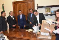 Recibió el presidente del Congreso proyecto de Presupuesto e Iniciativa de Ley de Ingresos
