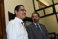 El diputado manifestó que la visita de cortesía del Rector, sirvió para entablar una charla enfocada en la celebración de los cien años de la Universidad Michoacana, mismos que se cumplen en el próximo 15 de octubre