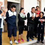 La directora general del Sistema DIF Michoacán, Rocío Beamonte Romero, así como la directora de la Cecufid, Edna Gisel Díaz Acevedo, entregaron los banderines al equipo michoacano de fútbol 5 y les desearon el mejor de los éxitos
