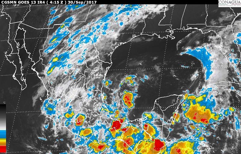 Mañana se estiman vientos de componente norte con rachas mayores a 70 km/h y oleaje de 1 a 2 m en el litoral de Tamaulipas, Veracruz y el Istmo de Tehuantepec