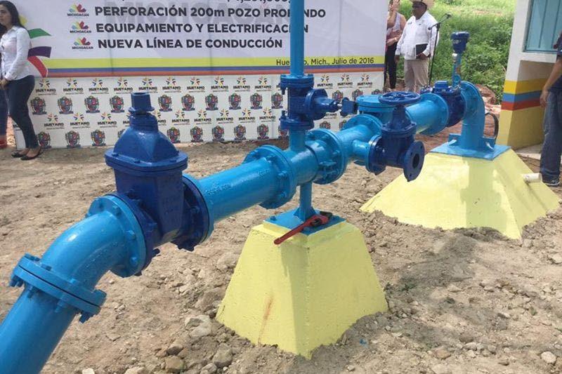 Antes de esta administración, apenas el 60 por ciento de los habitantes de la cabecera municipal de Huetamo contaba con servicio de agua potable
