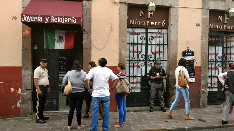 El lugar fue resguardado por Policía Michoacán y Grupo Tigre de seguridad privada, en espera de que se realicen las diligencias de ley (FOTO: FRANCISCO ALBERTO SOTOMAYOR)