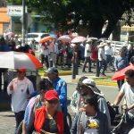 Como de costumbre, manifestantes provocaron caos vial a su paso por las calles de la capital michoacana