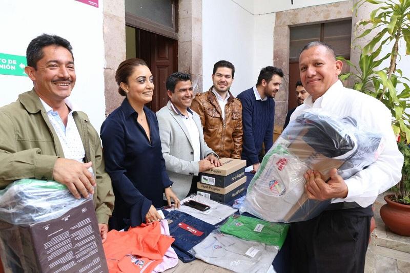 Julieta López agradeció al personal que labora en la CGCS por la labor que realizan día a día para transmitir los apoyos, servicios y acciones del Gobierno del Estado de Michoacán