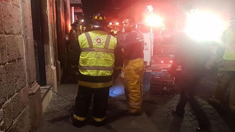 Por fortuna no se reportan personas lesionadas, pero sí cuantiosos daños materiales