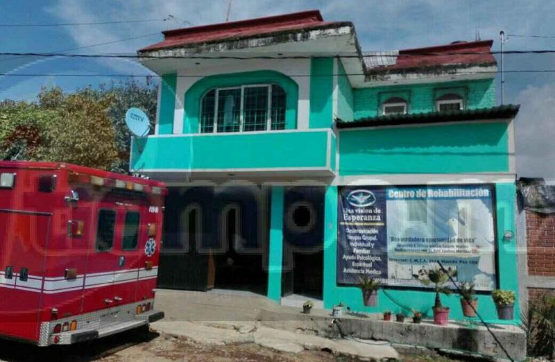 """Aproximadamente a las 10:00 de la mañana reportaron a la línea de emergencias que en el interior del Centro de Rehabilitación """"Una Visión de Esperanza"""", ubicado sobre la calle Río Bravo #16"""