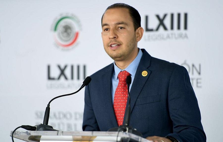 El coordinador de los diputados del PAN, Marko Cortés dijo no compartir la decisión de Luisa María Claderón pero respetarla.