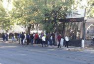 Los manifestantes no bloquearon vialidades en la capital michoacana