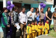 En Huiramba, la Estancia Infantil José Vasconcelos, atenderá a 35 infantes, está ubicada en la calle 2da de Allende #11, la cual estará a cargo de Carmen Janette García