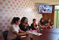 Gloria Campos, Delegada Estatal de Mujeres en Movimiento, expuso estadísticas que muestran cifras alarmantes, basadas en el Banco Estatal de Datos e Información sobre casos de violencia contra las Mujeres