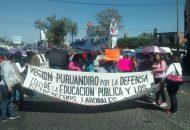 Todo lo anterior, para exigir que el Gobierno de Michoacán garantice los pagos completos de las quincenas que restan hasta el fin de año, así como de los aguinaldos y bonos estatales que siguen pendientes