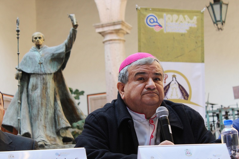 """En su mensaje de Año Nuevo, Monseñor Garfias, invitó a dar gracias por este año que culmina, """"Señor, quiero darte las gracias por todo lo vivido –lo bueno y lo malo-, porque me acercó más a ti"""""""