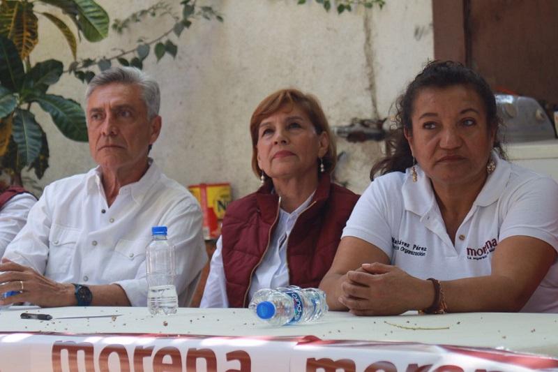 """Por su parte Cristóbal Arias señaló que confía en que Huetamo como lugar progresista, """"va dar una demostración en este proceso electoral a favor de AMLO""""."""