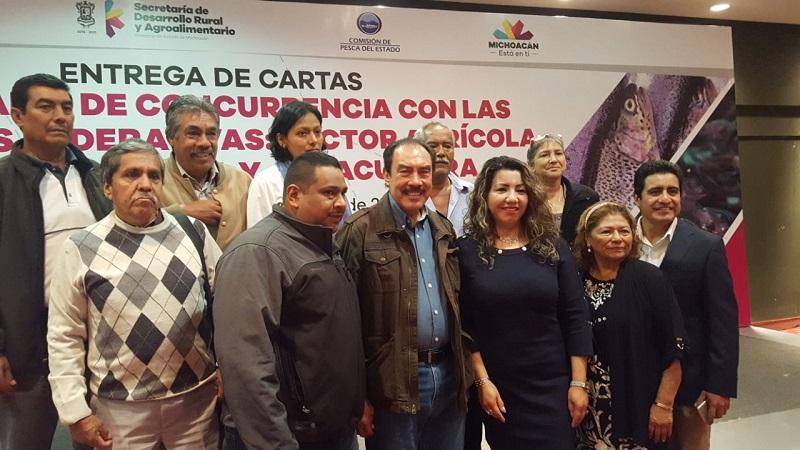 El delegado abundó en que con este incentivo se verán beneficiados mil 256 productores michoacanos.