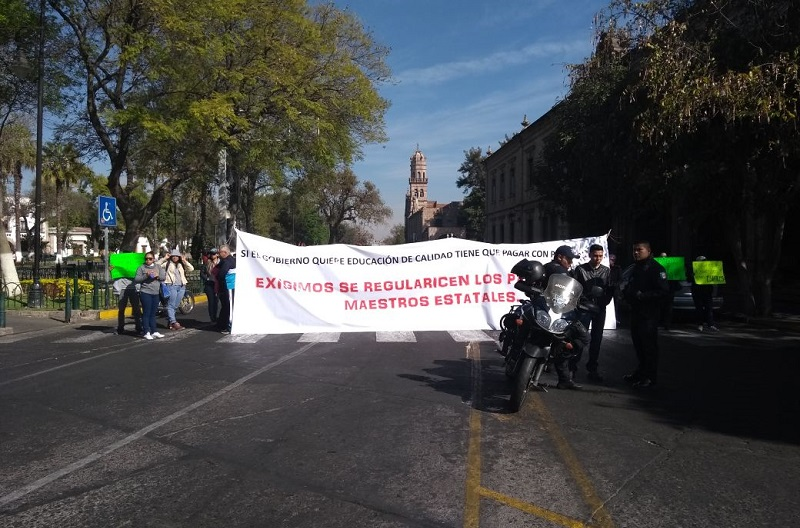 La manifestación provocó problemas viales en esa transitada zona de la ciudad