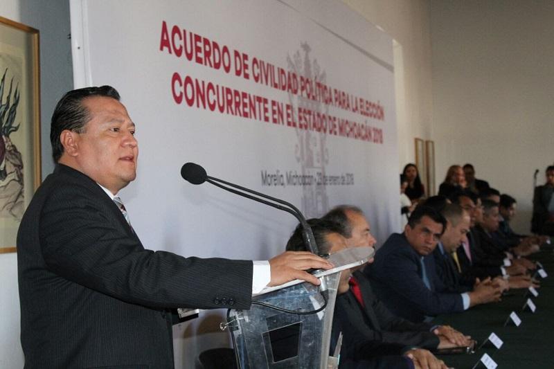 """""""Llamo a los partidos no presentes, los llamo a la civilidad, a la concordia, para que hagan suyo este acuerdo y que lo puedan suscribir con posteridad, serían mis mejores deseos"""", abundó García Avilés"""
