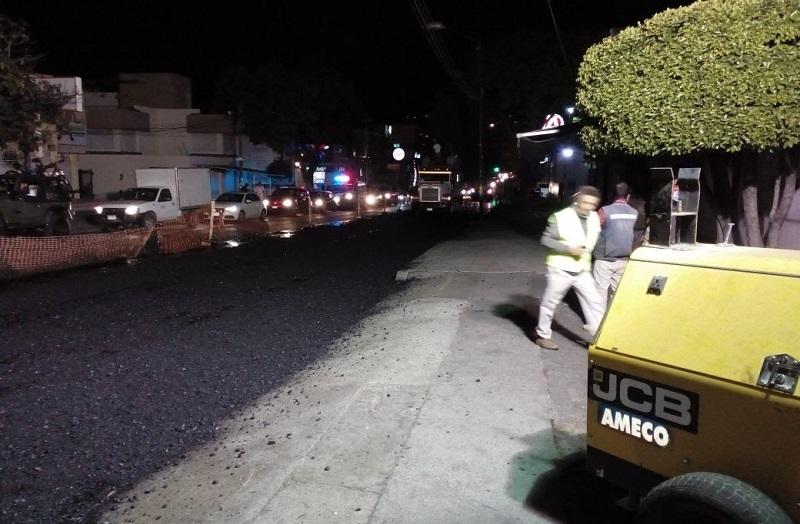 Sosa Tapia especificó que, con el objetivo de evitar complicaciones viales durante el día, las labores se ejecutarán por las noches