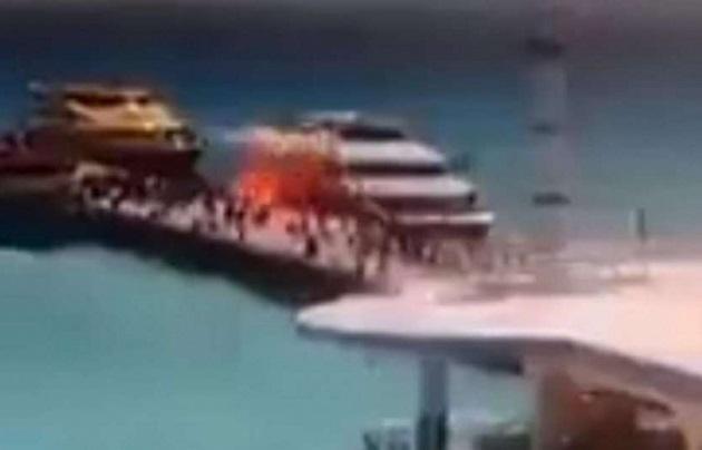 El estallido ocurrió cuando había turistas y residentes fuera de la embarcación caminando por el muelle fiscal, al momento del descenso de pasajeros. La autoridad desconoce aún las causas de la explosión.