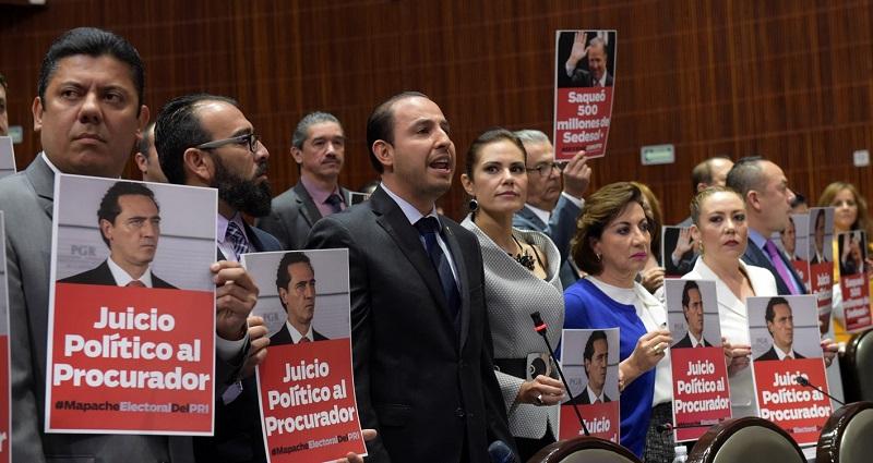 Jonadab Martínez dijo que los legisladores del Frente están denunciando la intromisión de la PGR en el proceso electoral