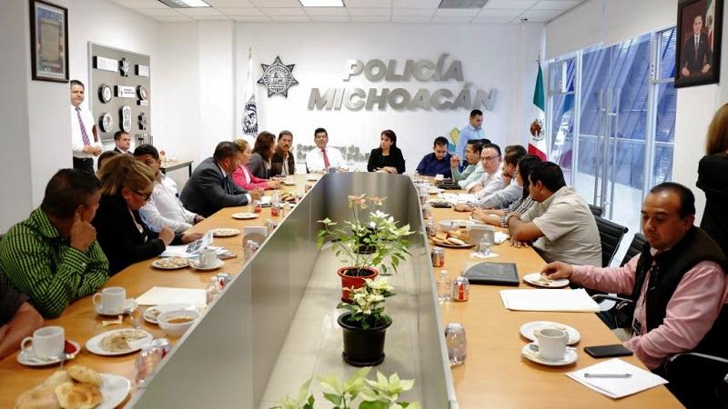 Corona Martínez destacó que para la administración que encabeza el gobernador Silvano Aureoles es prioritario incrementar los índices de seguridad en todo el estado