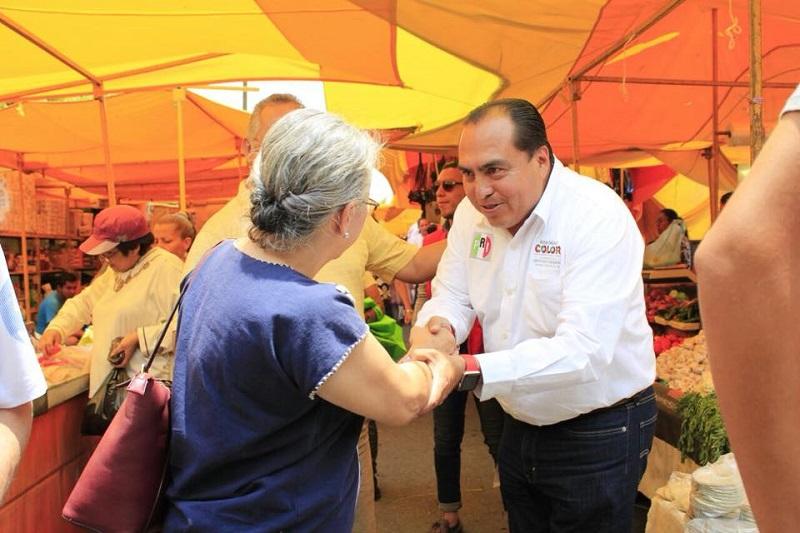Color Gasca agregó que durante los primeros 30 días de campaña ha escuchado la voz de los trabajadores, con quienes ha sido empático gracias a su vida como comerciante
