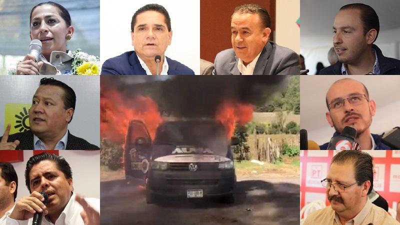 Pero me llama la atención el silencio del dirigente estatal del PRD, Martín García Avilés, por cierto, oriundo de Nahuatzen, así como del resto de los partidos