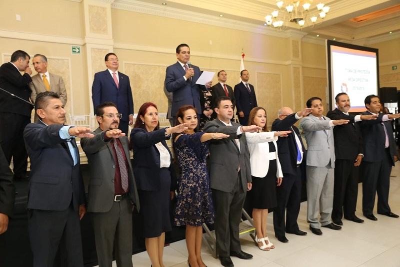 Presidentes de la Canacintra Nacional y de la delegación Morelia, destacan los avances que en materia social y económica se han registrado en Michoacán